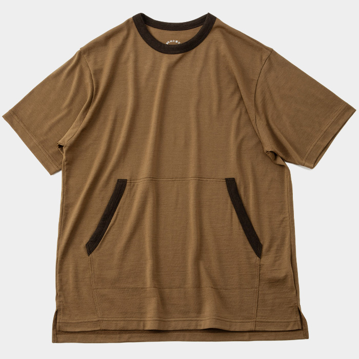 Light Merino Kangaroo Pocket T-shirt