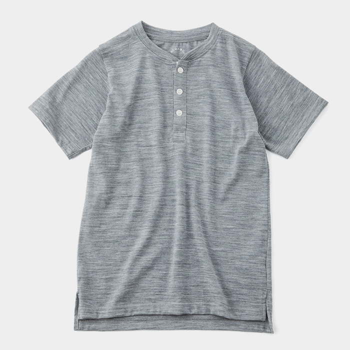 Merino <br>Henry Neck T-shirt